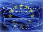 12 care este ramura legislativ a uniunii europene
