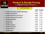 product bundle pricing highest product full price