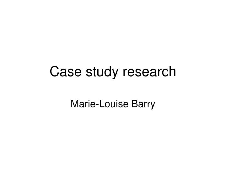 case study research n.