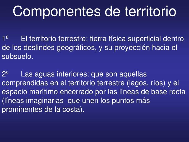 Componentes de territorio