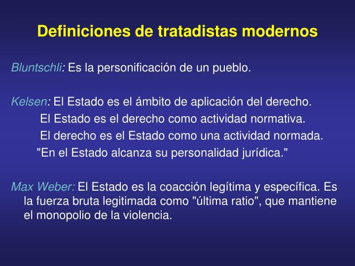 Definiciones de tratadistas modernos