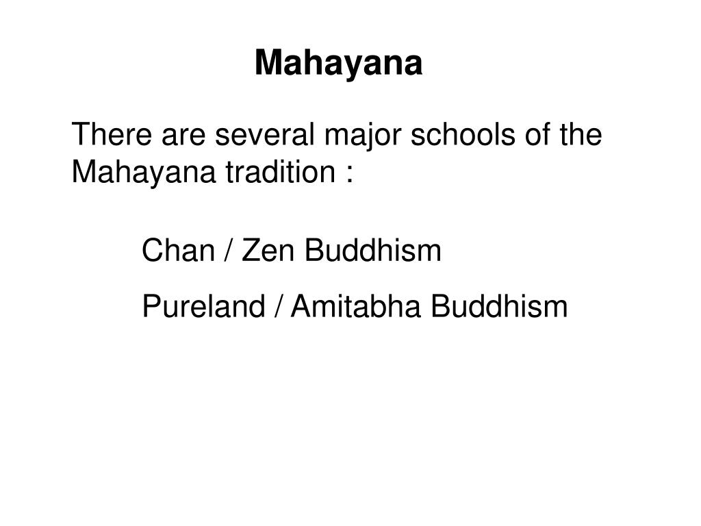 PPT - The Different Buddhist Traditions PowerPoint