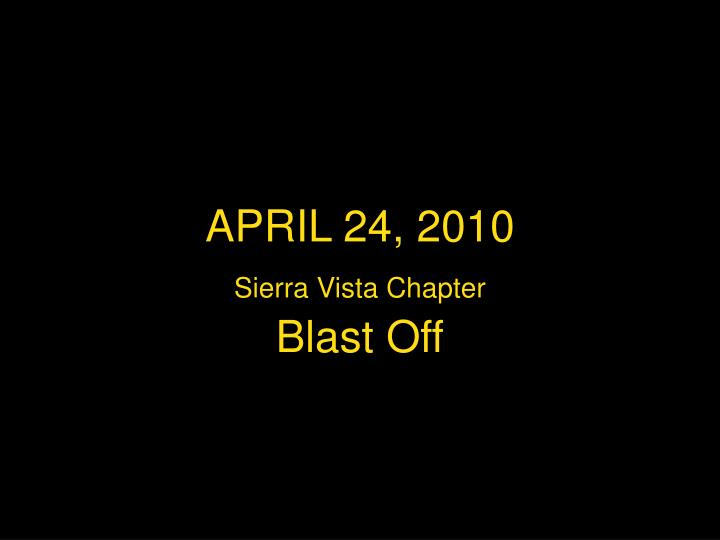 April 24 2010