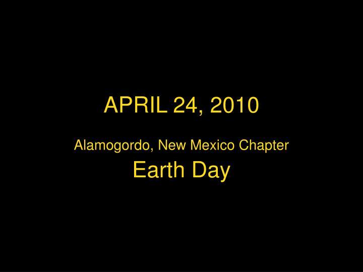 April 24 20101