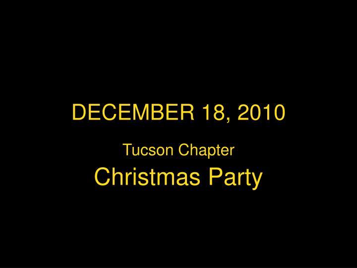 DECEMBER 18, 2010