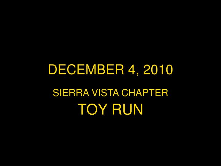 DECEMBER 4, 2010