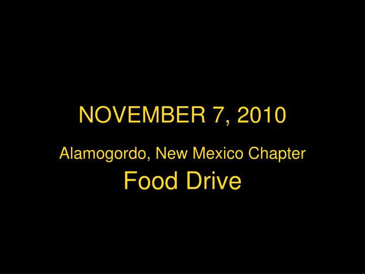 NOVEMBER 7, 2010