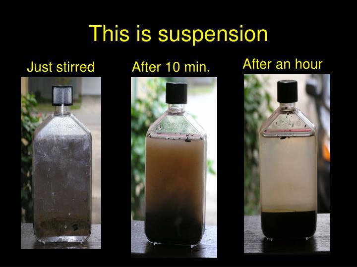 This is suspension
