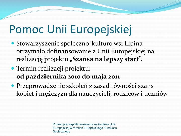 Pomoc unii europejskiej