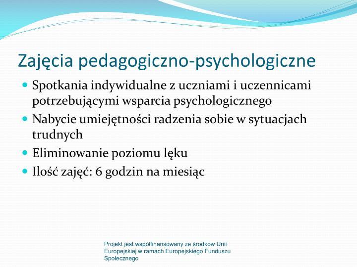 Zajęcia pedagogiczno-psychologiczne