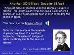 another 2d effect doppler effect