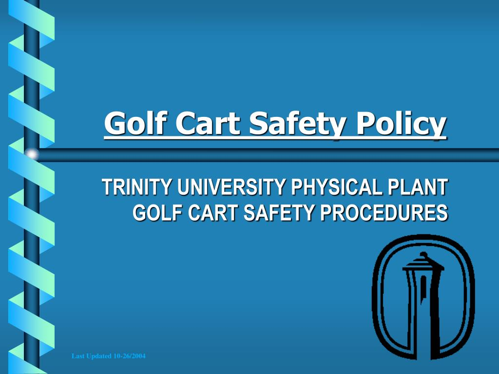 PPT - Golf Cart Safety Policy PowerPoint Presentation - ID:4944398 Golf Cart Sign In And Out Procedures on