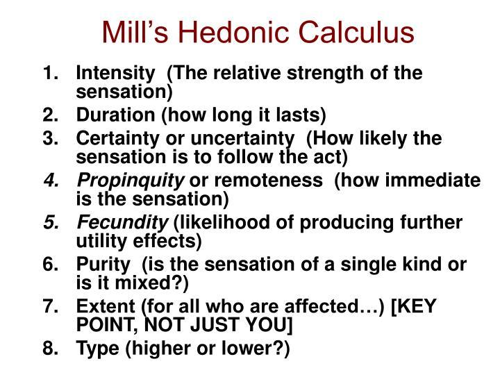 hedonistic calculus