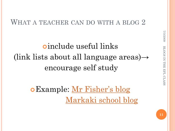 What a teacher can do with a blog 2