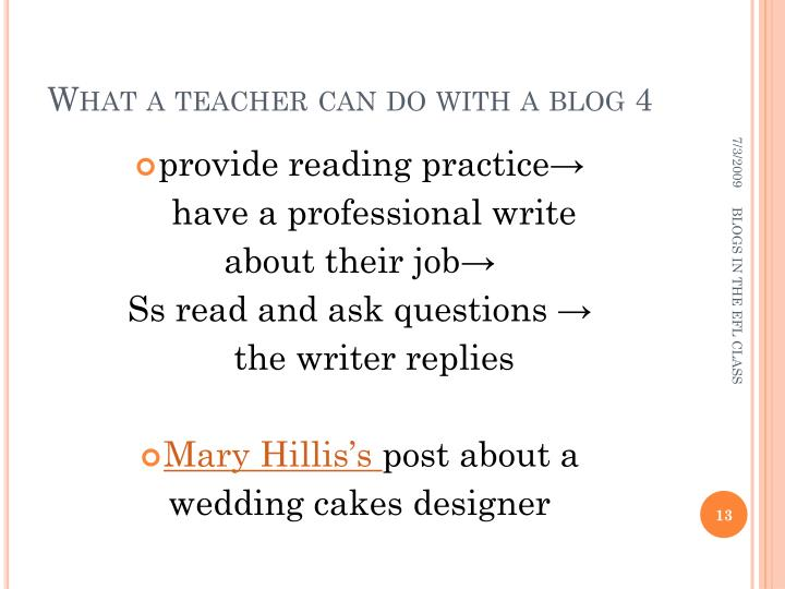 What a teacher can do with a blog 4