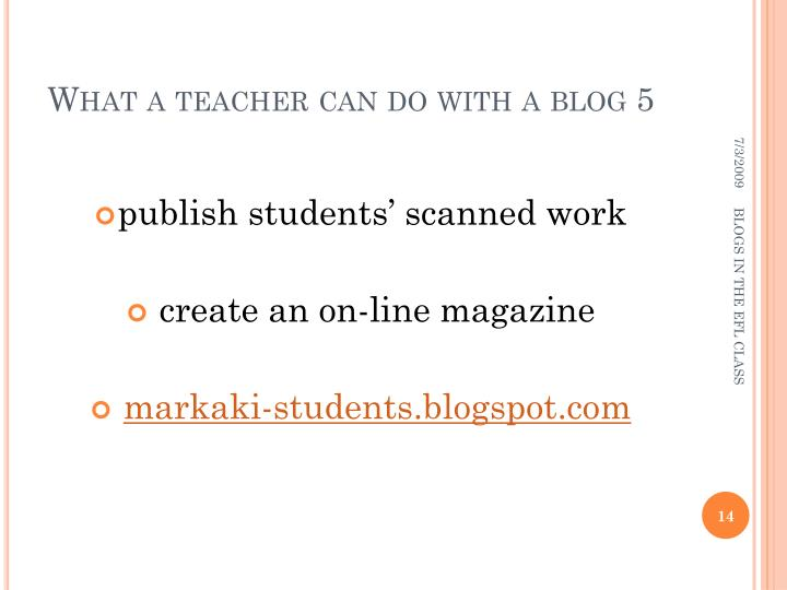 What a teacher can do with a blog 5