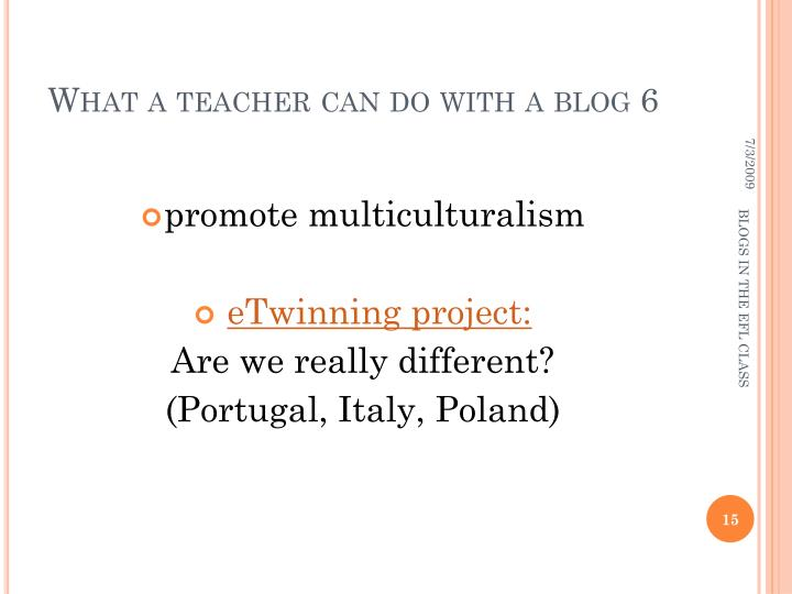 What a teacher can do with a blog 6