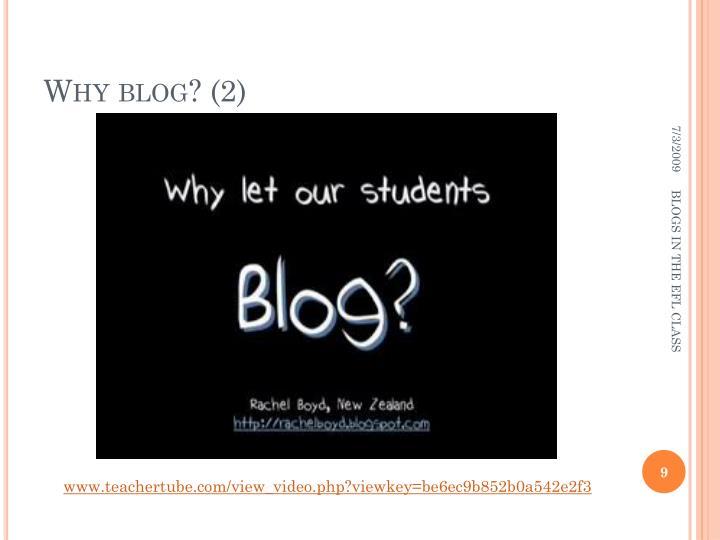 Why blog? (2)