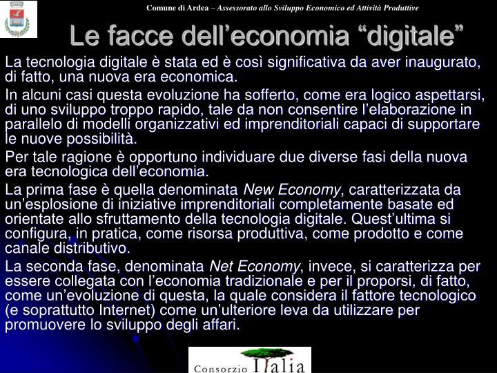 """Le facce dell'economia """"digitale"""""""
