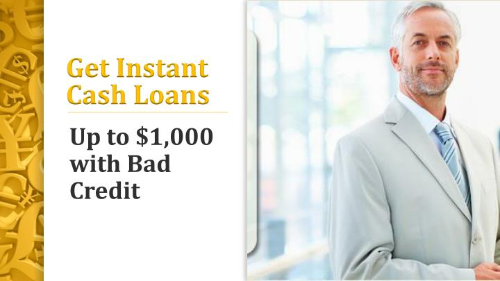 Instant Cash Loans : Ppt no checking account loans qucik advanced form