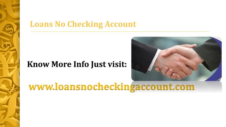 bad credit personal loans no checking account - 2