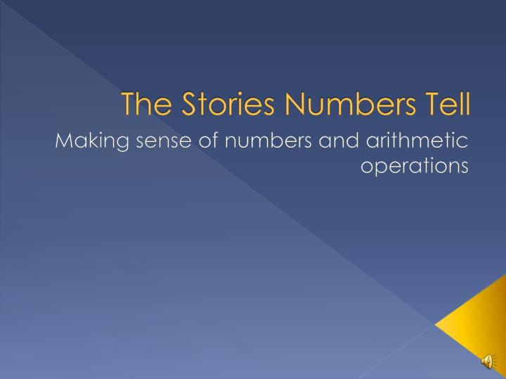 the stories numbers tell n.