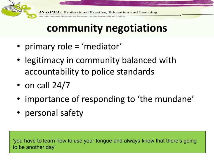 community negotiations