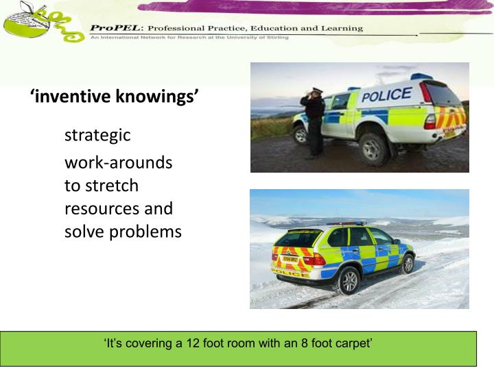 'inventive knowings'