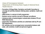 areas of convergence between department of drinking water supply national rural health mission
