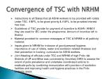 convergence of tsc with nrhm1