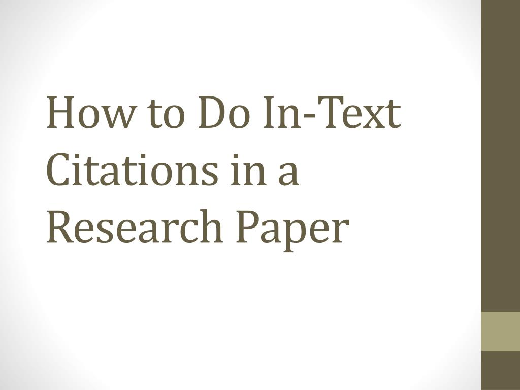what are citations in a research paper