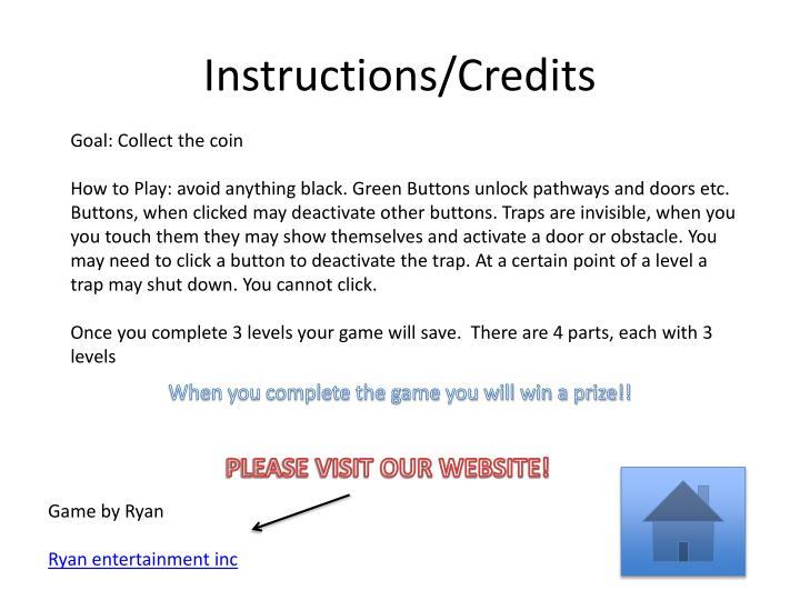 Instructions credits