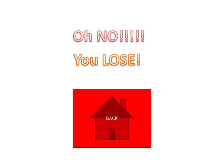 Oh NO!!!!!