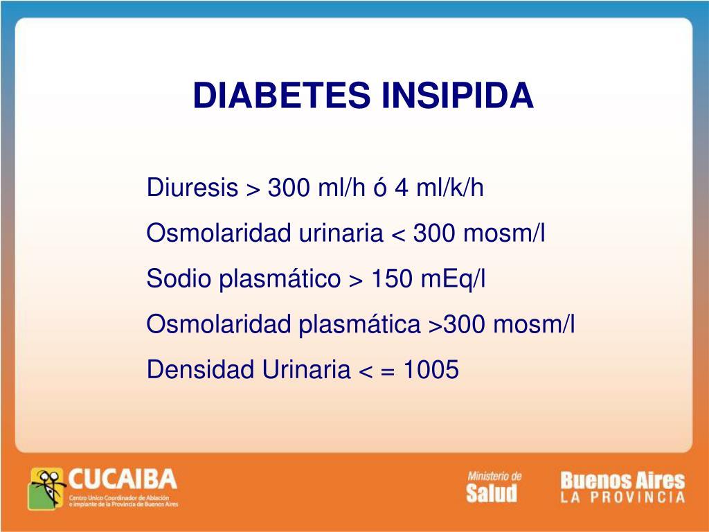 osmolaridad sérica en diabetes insípida