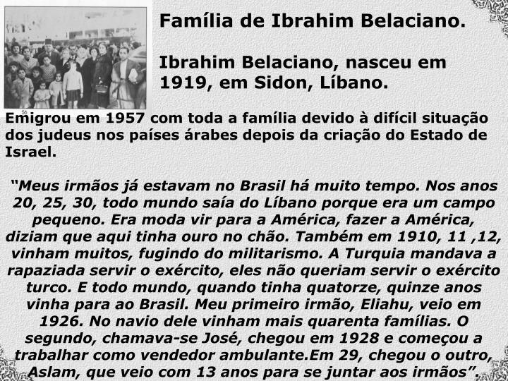 Família de Ibrahim Belaciano