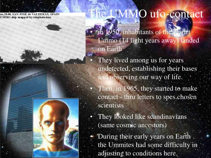 PPT - The UMMO ufo-contact PowerPoint Presentation - ID:4946204