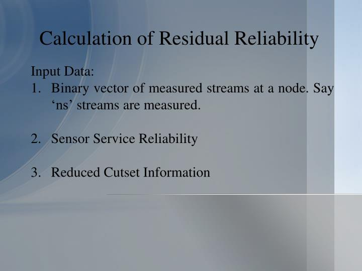 Calculation of Residual Reliability
