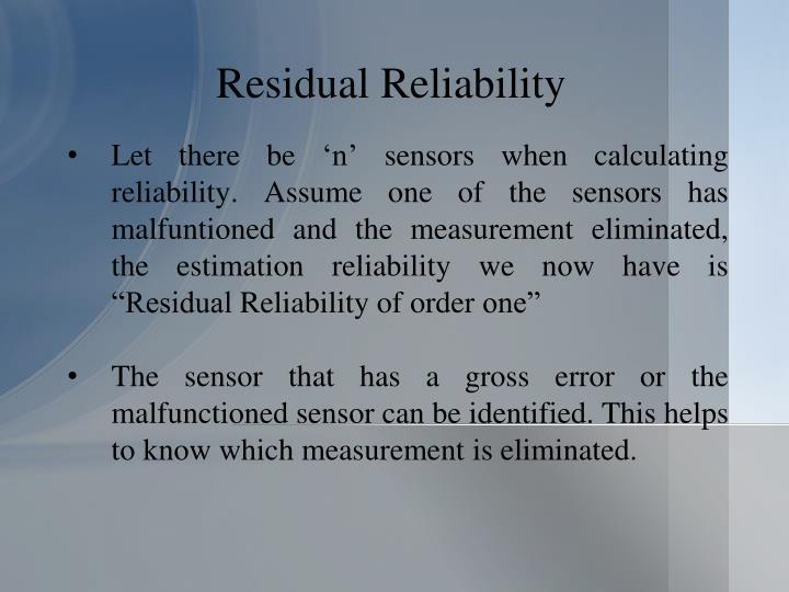 Residual Reliability