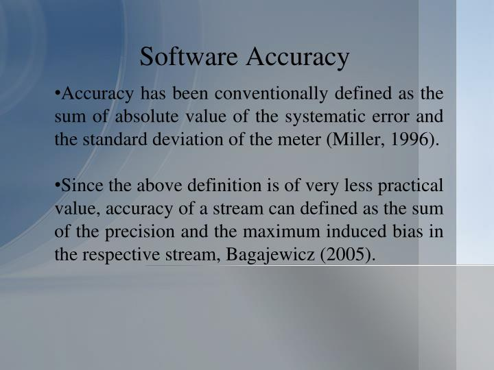 Software Accuracy