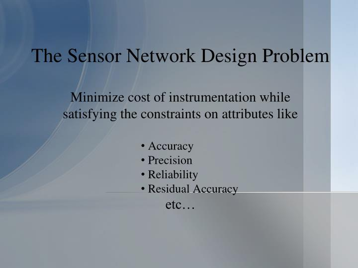 The sensor network design problem