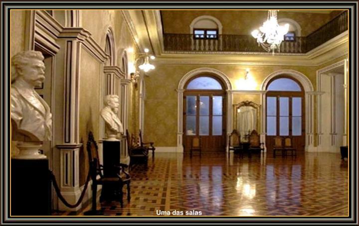 Uma das salas