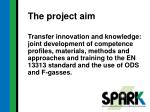 the project aim