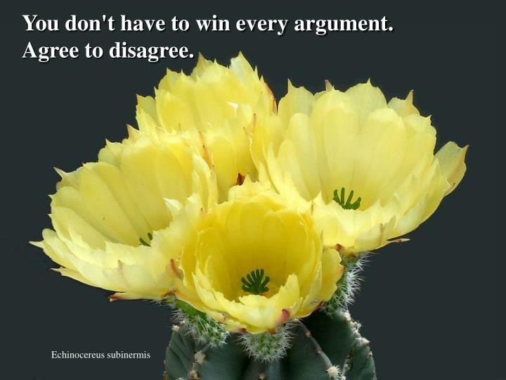 You don't have to win every argument.