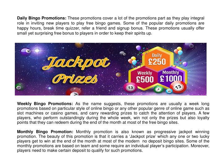 Daily Bingo Promotions: