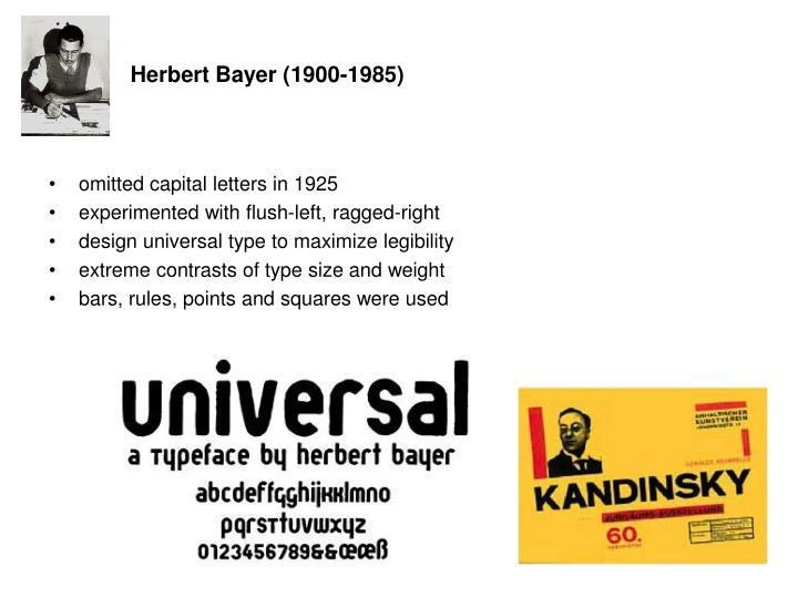 Herbert Bayer (1900-1985)