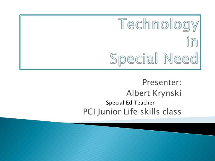 technology in special need n.