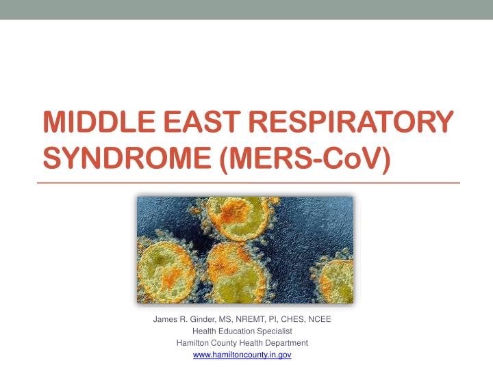 middle east respiratory syndrome mers c o v n.