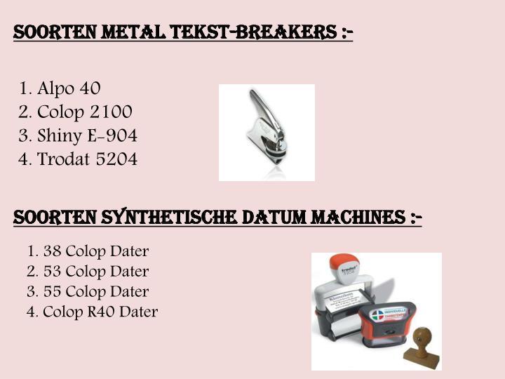 Soorten Metal tekst-breakers