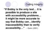 coding integrity3