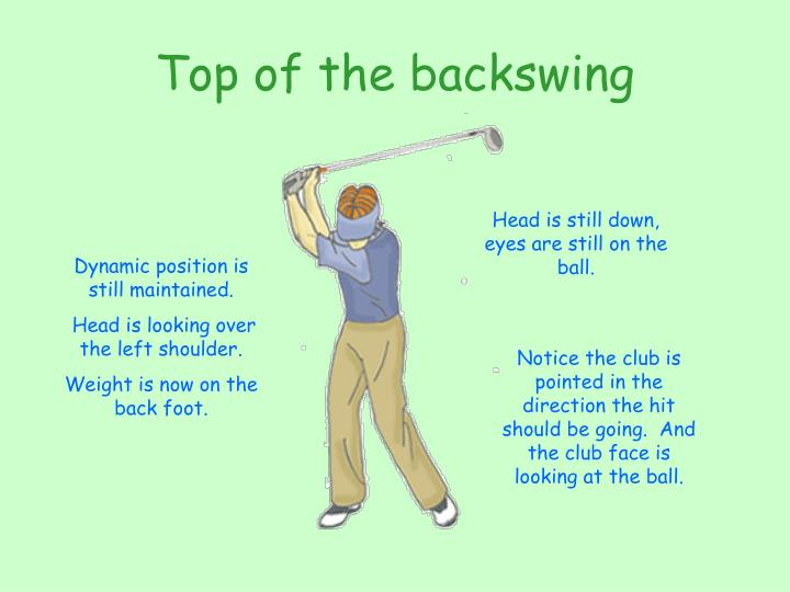 Top of the backswing